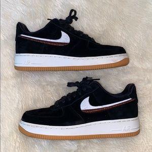 Nike Air Force 1 '07 LX Suede Black & White NWT